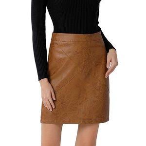 Faux leather skirt. Size medium